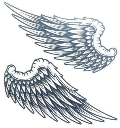 Tatouage ephemere ailes d' anges