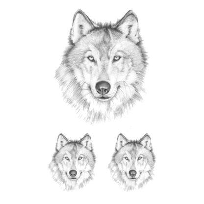 Faux tatouage loup naturel