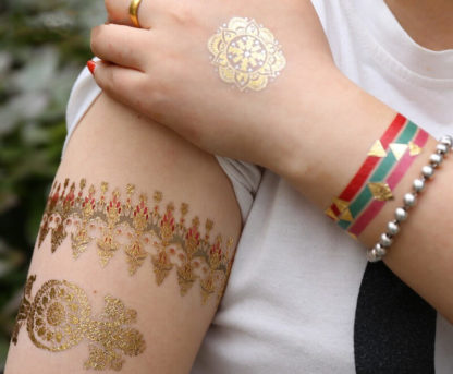 Tattoo bracelet et etoile turquoise