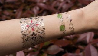 Tatouage temporaire bracelet feuille