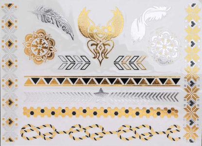 Tattoo bracelet fleche argent