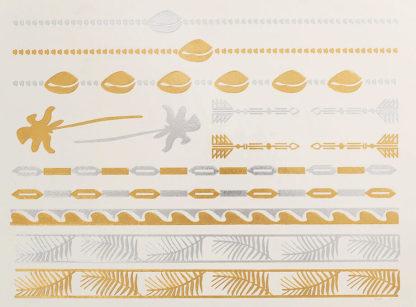 Faux tatouage coquillage palmier plage