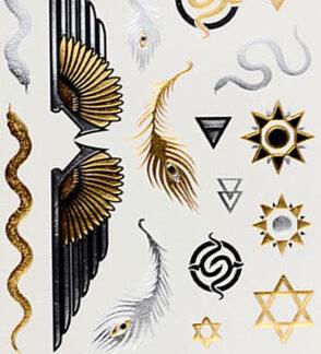Faux tatouage egypte soleil serpent aile