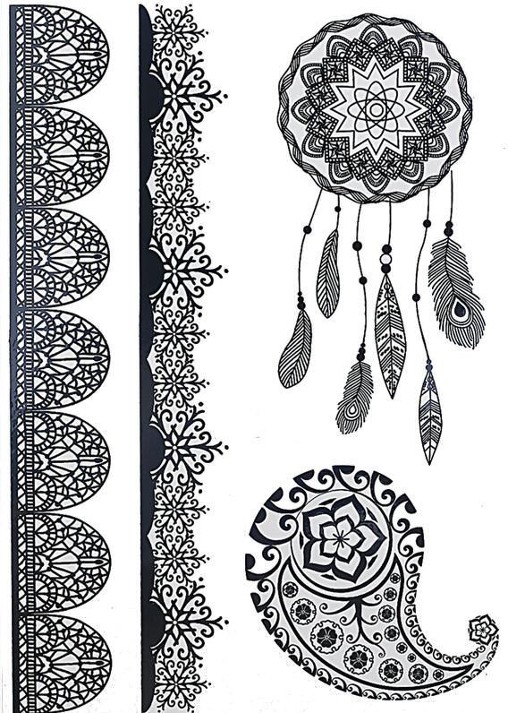 tatouage temporaire attrape-reve tribal bracelet - kolawi