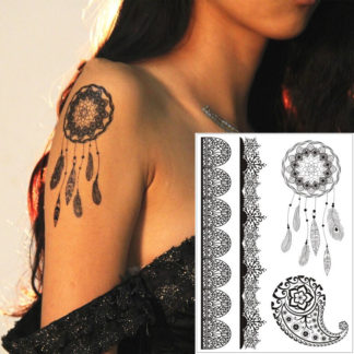 Tatouage temporaire attrape-reve tribal bracelet