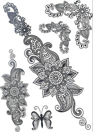 Faux tatouage mandala fleuri
