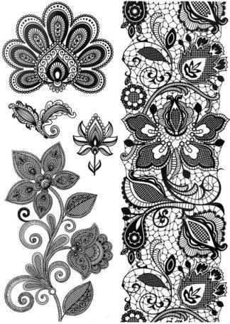 Tatouage ephemere couloir fleural