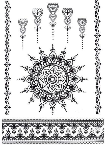 Faux tatouage mandala black et bracelet