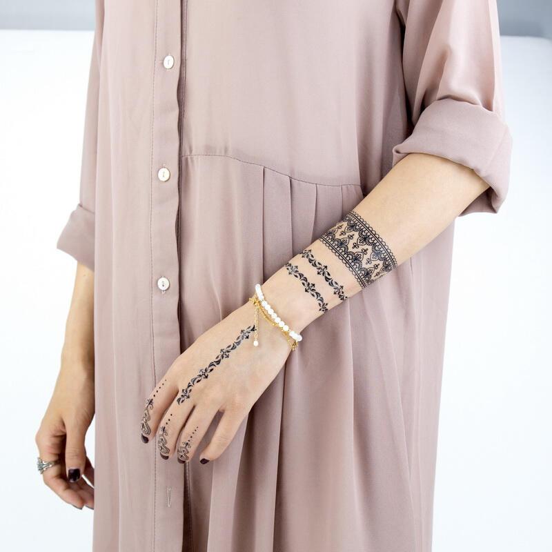Faux Tatouage Mandala Black Et Bracelet Kolawi