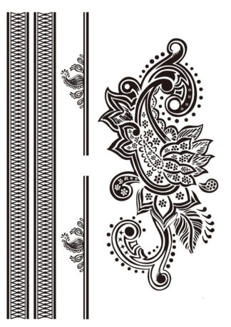 Faux tatouage facon tribal