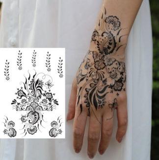 Tattoo bouquet fleur