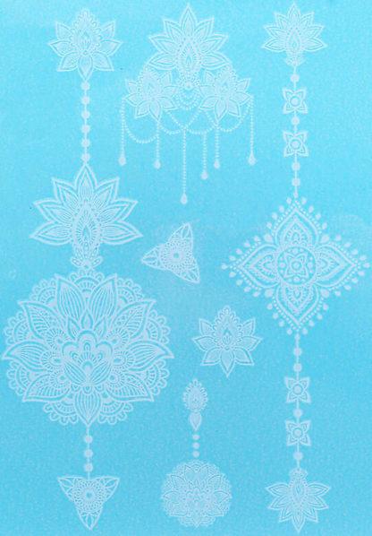 Tatouage temporaire mandala dentelle lustre