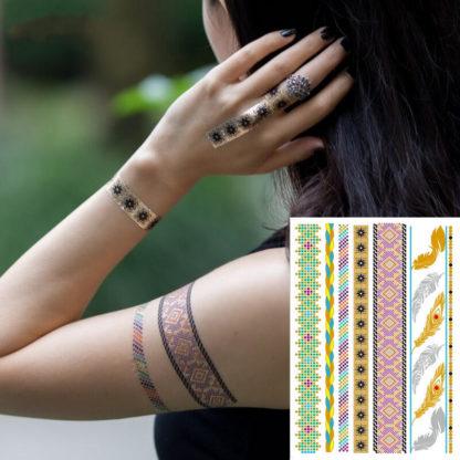 Tatouage temporaire bracelet color extra
