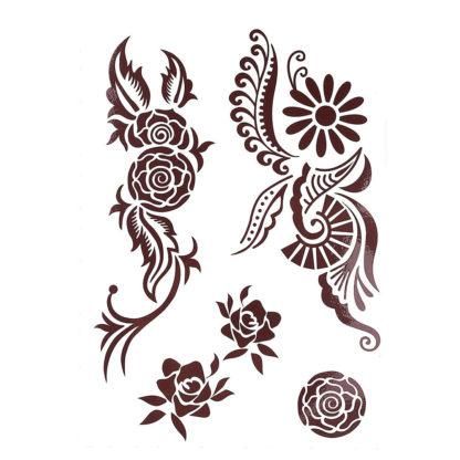Tatouage ephemere tribalus fleural