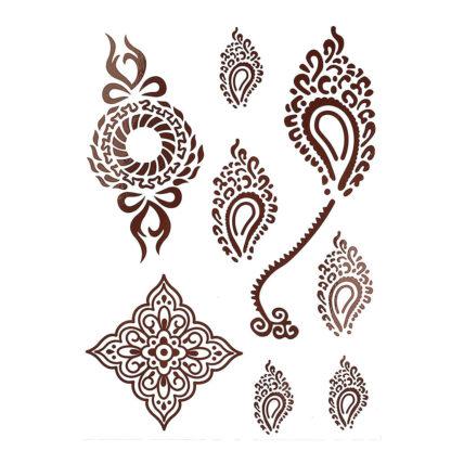 Faux tatouage tribalus oceane brun