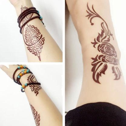 Tattoo tribalus mandala brun