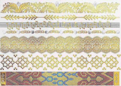 Tatouage ephemere bracelet mosaique msique fleur