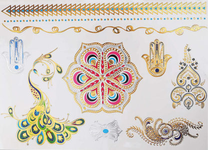 Tattoo mandala paon main fatma gold