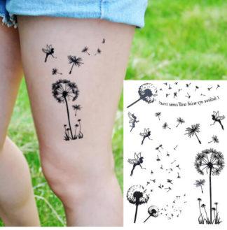 Faux tatouage Fleur et fée