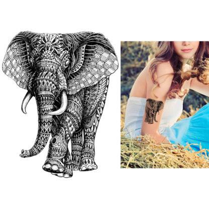 Tatouage ephemere elephant tribal