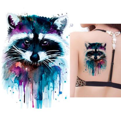 Faux tatouage raton laveur