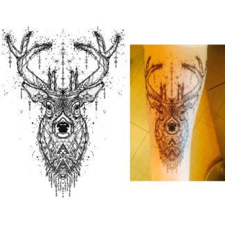 Tattoo cerf etoilé