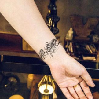 Faux tatouage poesie musicale
