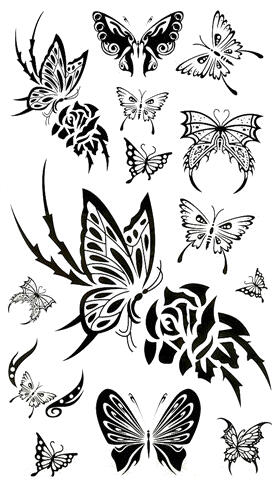 Tattoo papillons tribal