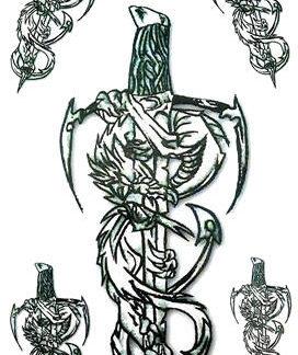 Faux tatouage epee force