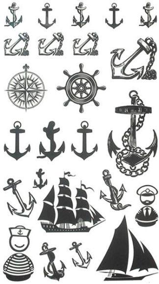 Tatouage artificiel Ances et bateaux