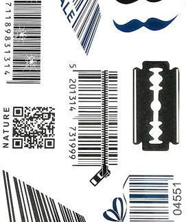 Faux tatouage code barre immatriculation