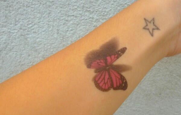 Tatouage Ephemere Papillons Multicolor 3d Kolawi