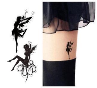 Faux tatouage fée de l'eté et fée de lhiver