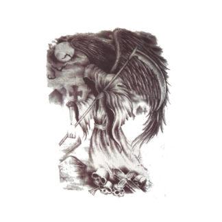 Faux tatouage ange diabolique