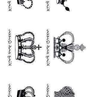Faux tatouage couronnes Roi et Reine
