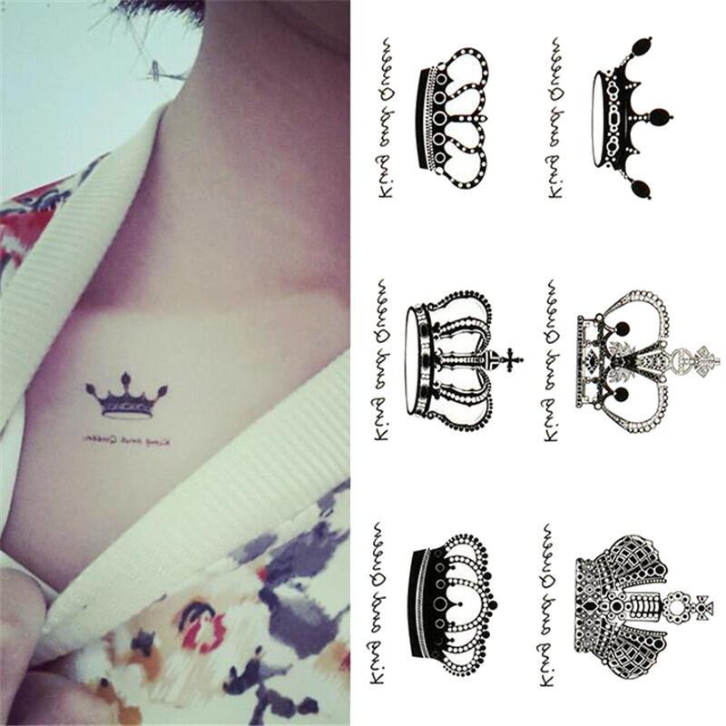 faux tatouage couronnes roi et reine - kolawi