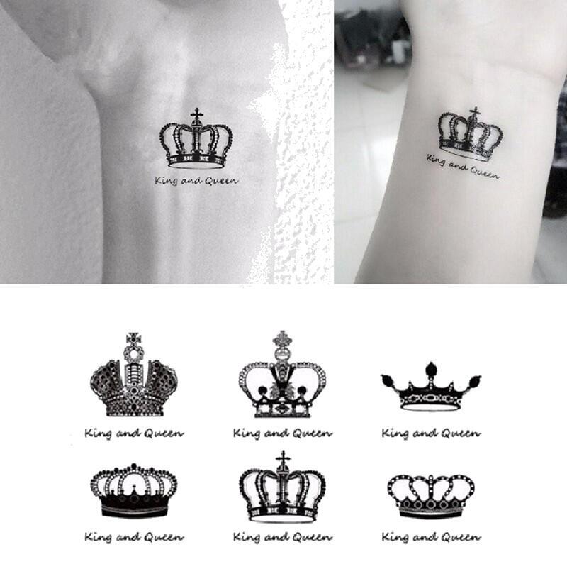 Faux Tatouage Couronnes Roi Et Reine Kolawi