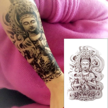 Tattoo bouddha bras