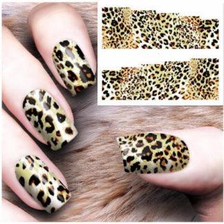 Tatouage ephemere ongle leopard