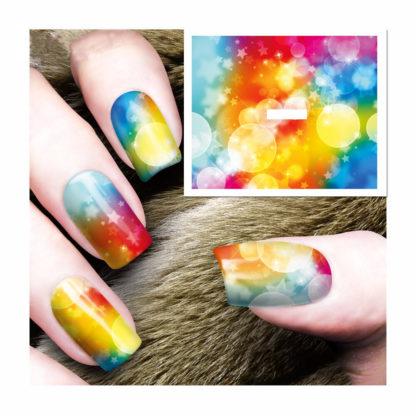 Tatouage temporaire ongle lueur multicouleur