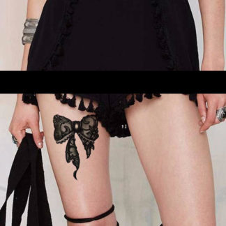 Faux tatouage noeud ruban noir