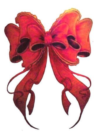 Tattoo noeud ruban rouge