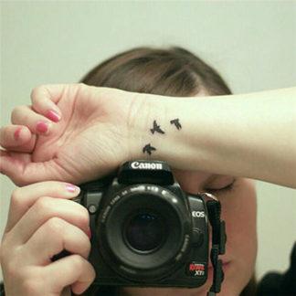 Tatouage temporaire petits oiseaux