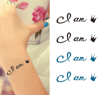 Tatouage ephemere ecriture i am
