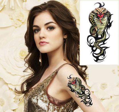 Tatouage ephemere cobra royal