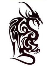 tatouage changeable tribal dragon