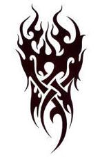 Tatouage provisoire tribal fire