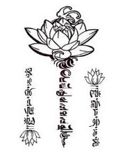 Tatouage provisoire Tribal flower