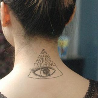 Tattoo oeil oiseau requin bateau oeil