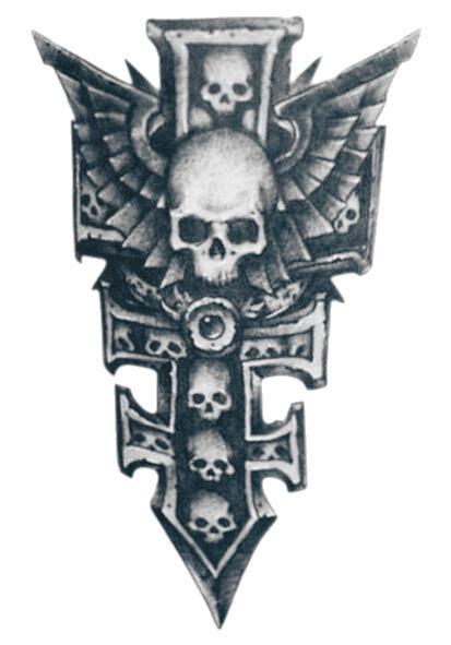Faux tatouage croix et crane